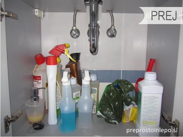 omara za čistila prej