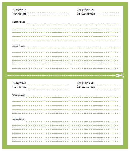 predloge za recepte