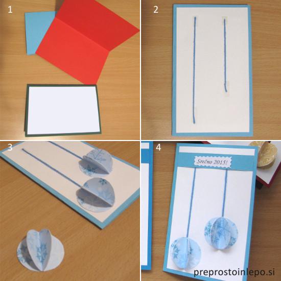 3D voščilnice navodila