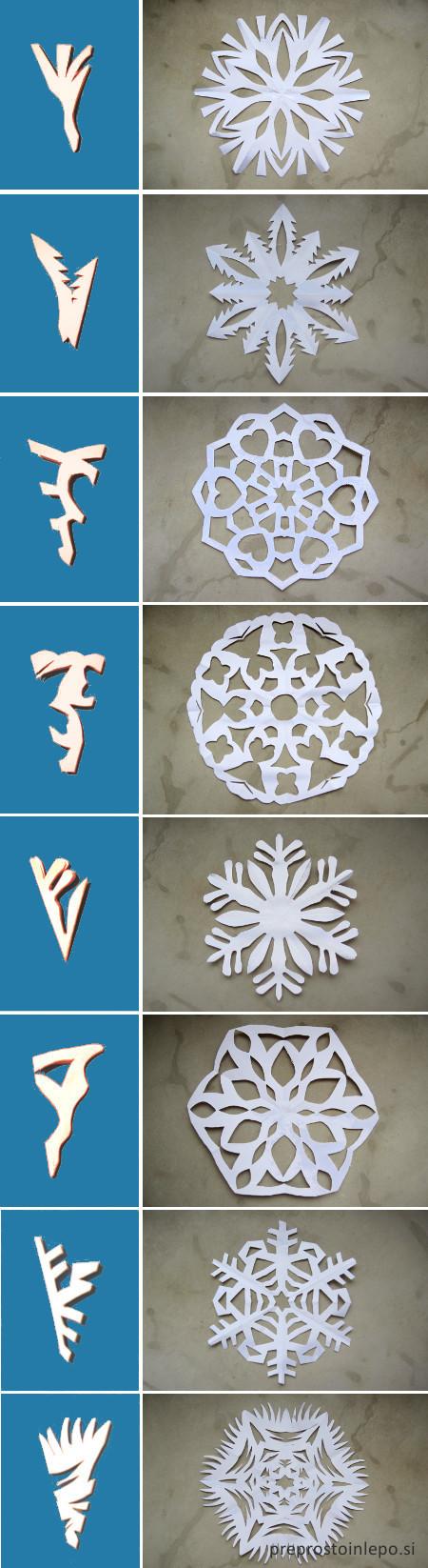 snežinke vzorci