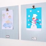 Otroške risbe – razstavljanje