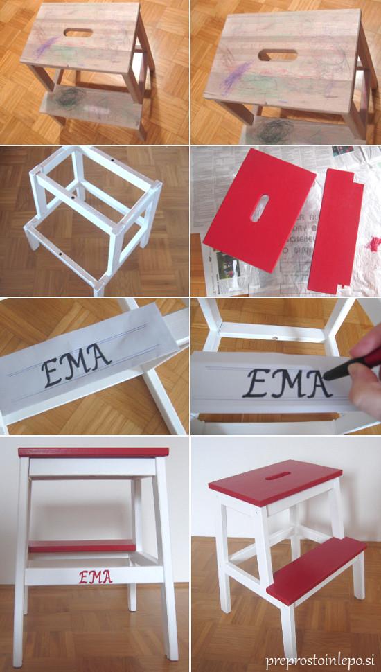 Ikea pručka barvanje2