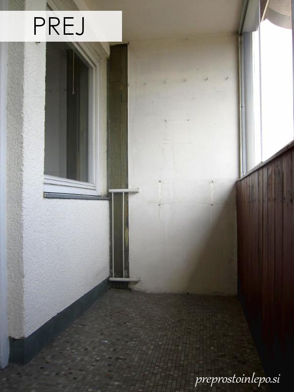 Balkon pred prenovo