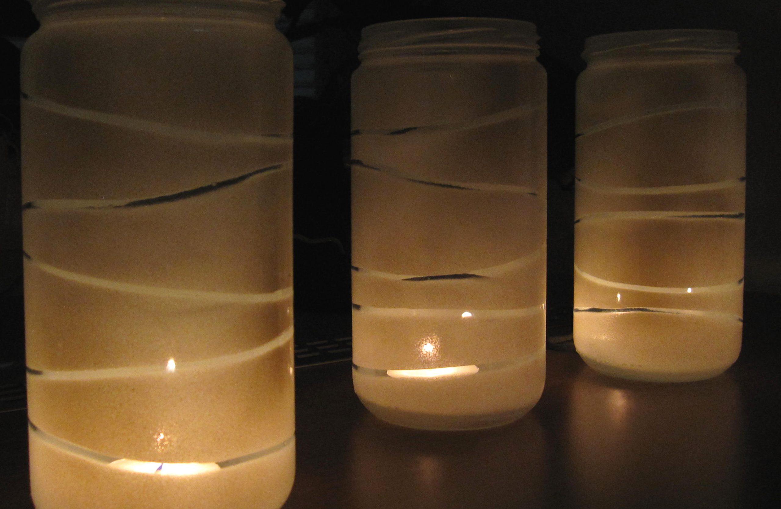Stekleni svečniki