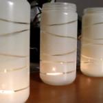 Svečniki iz steklenih kozarcev